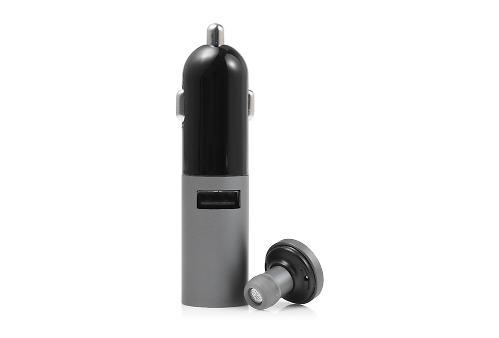 AWEI A870BL 12 - 28V Multi-function Bluetooth V4.0 Hands-free Call Headset 5V 2.1A USB Car Charger