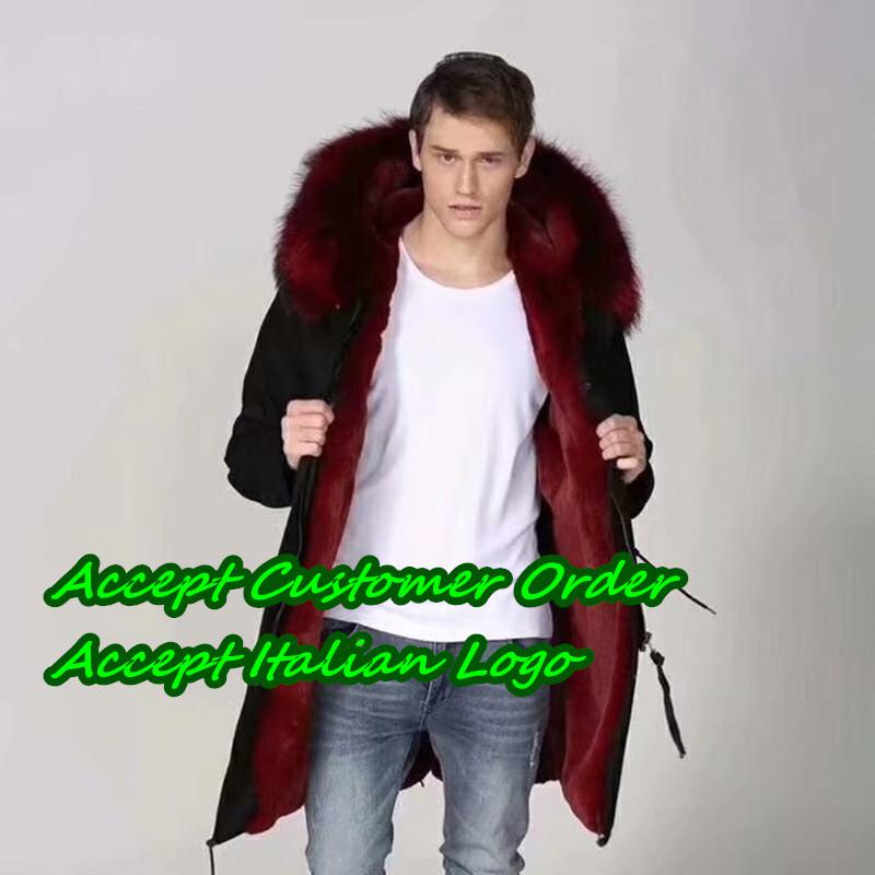 f/ür Business Casual verdicken NIMI Mens Echtes Leder Pelzlederjacke Winter Parka Jacke Hood Mantel Parka