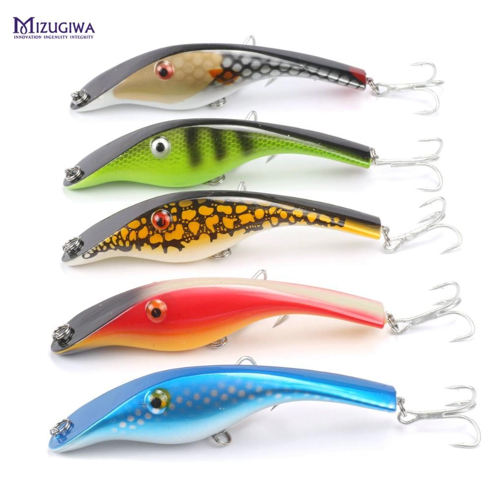 Zalt-UNDBERG-STALKER-JERKBAIT-MUSKY-MUSKIE-PIKE-BASS-Lure-Bait-Wobbler-Pike-3D-Eyes-Fishing-Lure