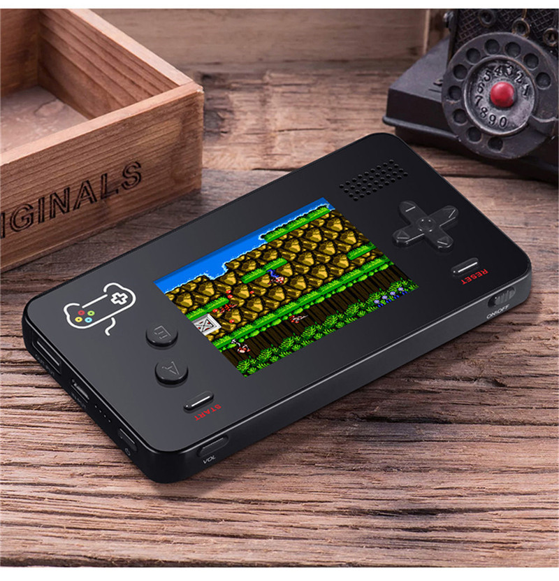 2018 New Handheld Game Console with 2.5 Inch LCD Screen 5000mAh Portable Power Bank Battery 188 Retro Classic Games Retro Pocket Game Player