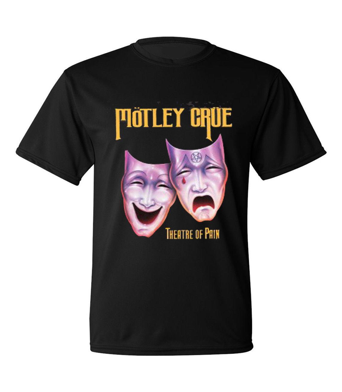 MOTLEY CRUE Theatre of Pain Rock Band Men/'s Black T-Shirt Size S to 3XL