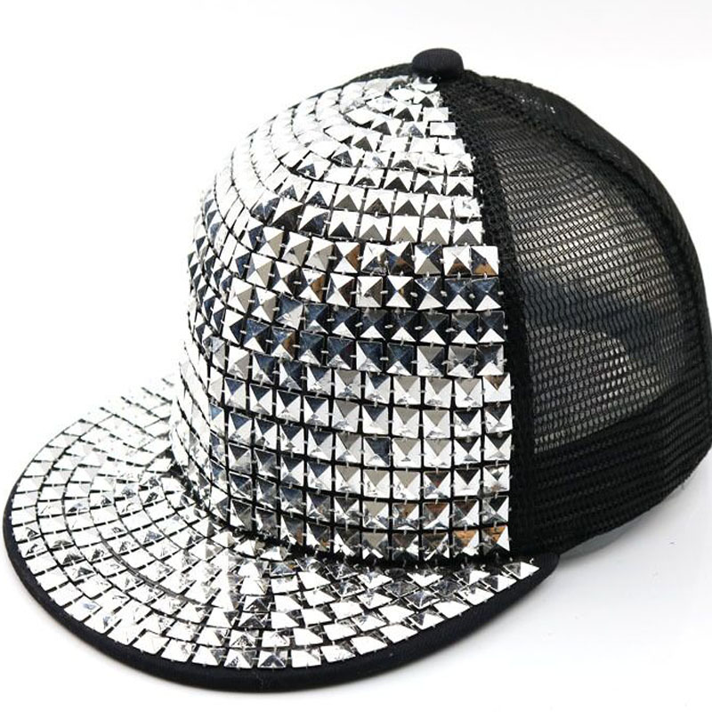 LOWEST PRICE NEW LADIES SOLID SEQUINS HAT-- SILVER -
