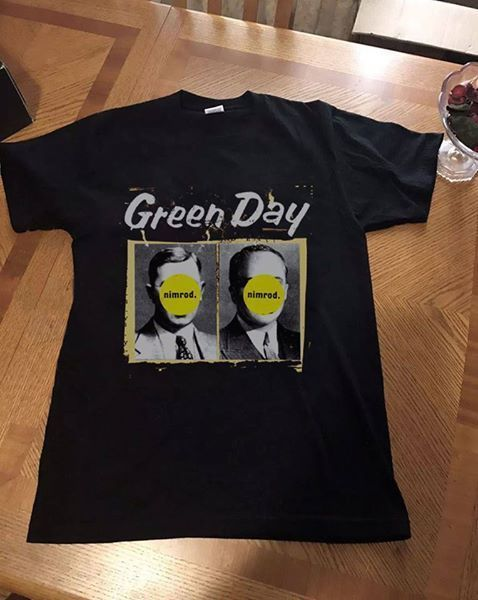 Buy Cool Shirts Summer O-Neck Short-Sleeve Green Day Nimrod Album Cover Tee Shirt For Men