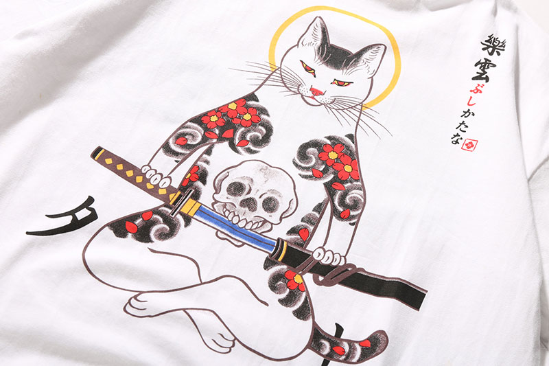 Japanese Embroidery Fox Mask Warrior Cats Tshirts 8