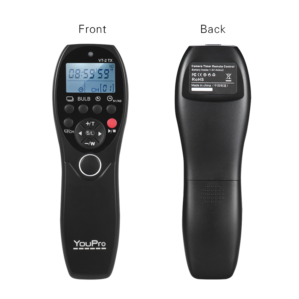 wholesale VT-2 LCD Timer Shutter Release Video Transmitter Receiver for Sony Cameras Camcorders Wireless Remote Control Commander