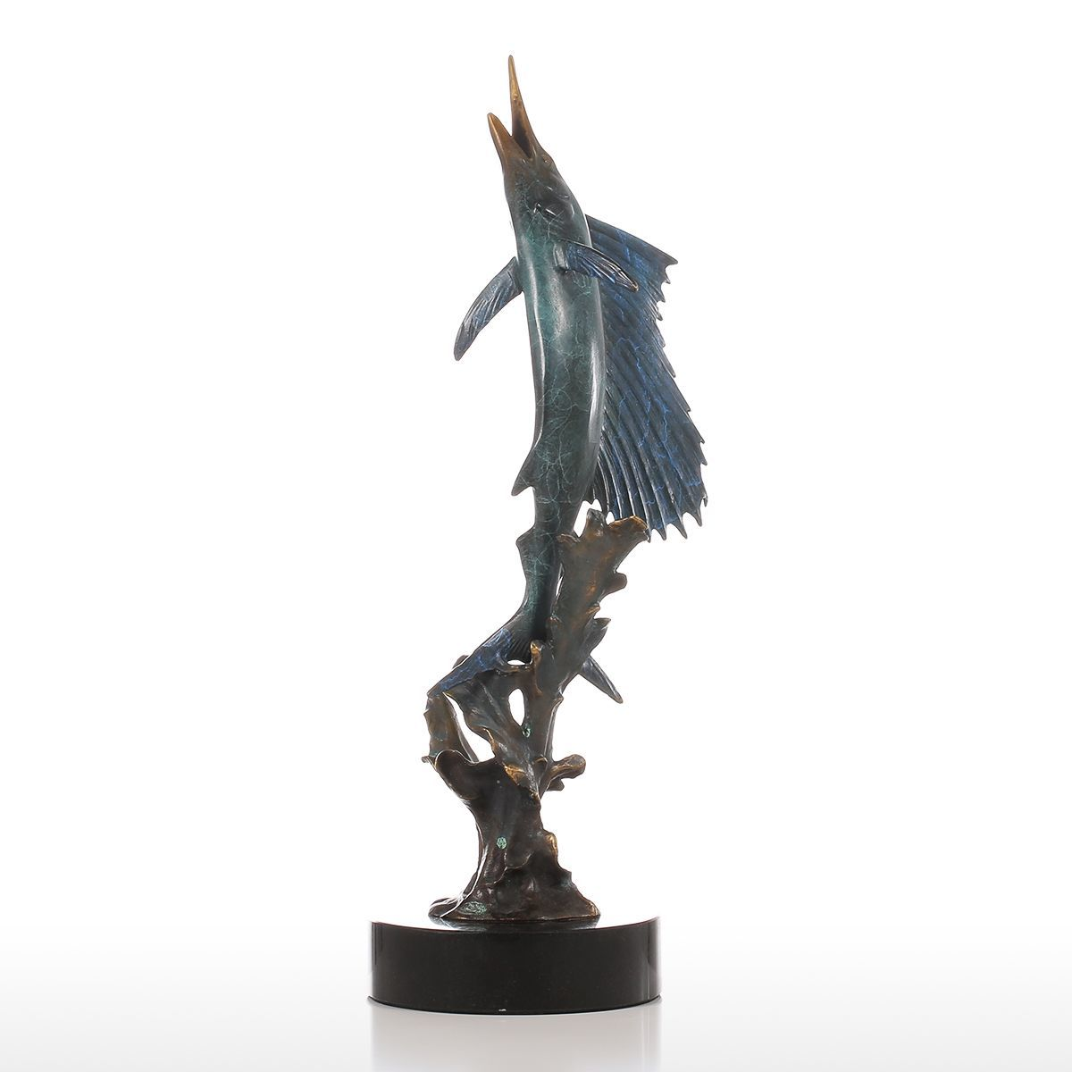 Tooarts Salifish Out of Water Figurine Handmade Bronze Figurine Europe Art Home Decor Craft Gift For Home