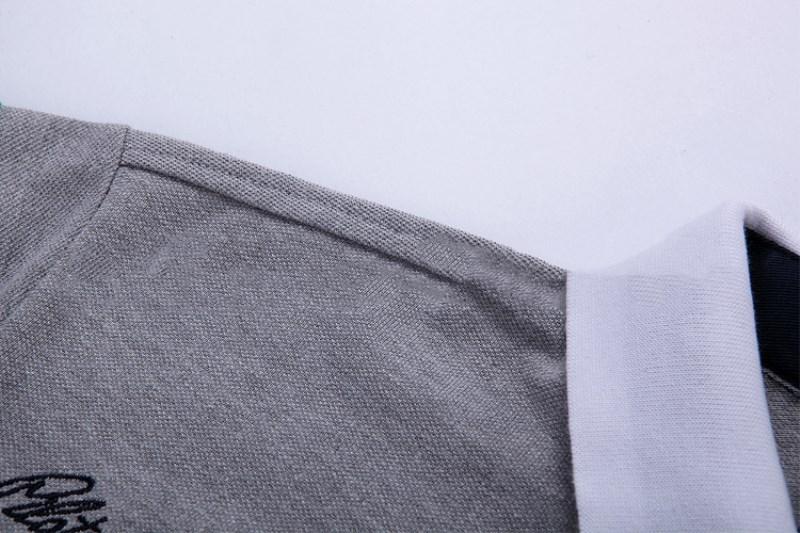 Mens Designer Polo Shirts 2018 Sommer T Shirts Stickerei Umlegekragen Baumwolle Mischung Grund Top für Männer Atmungsaktiv und Lose