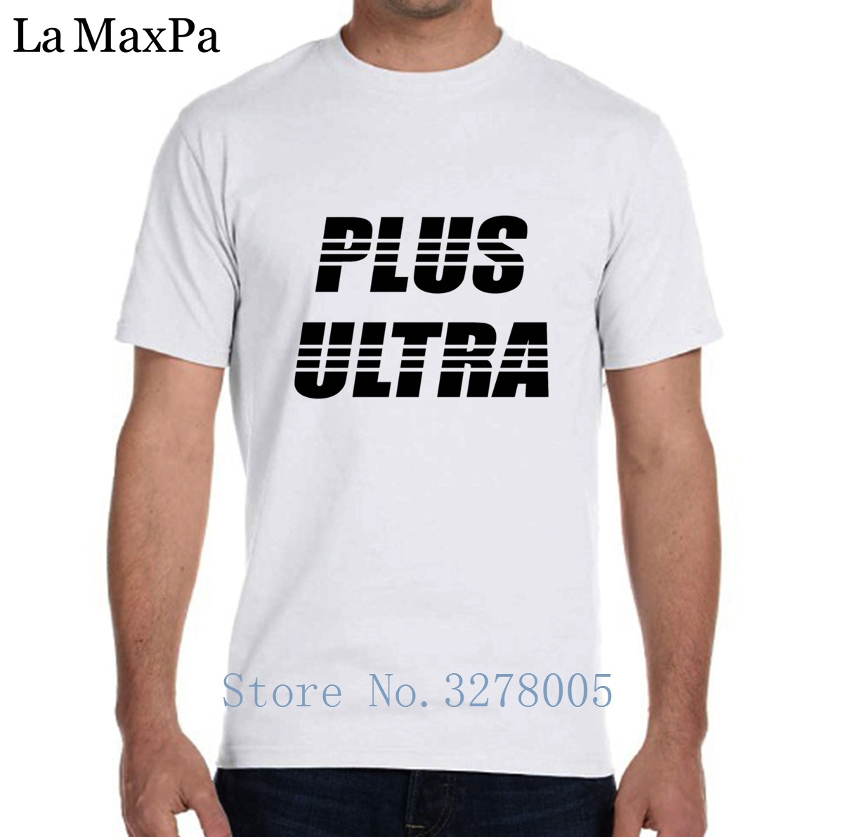 La Maxza Custom Men's T-Shirt Super Plus Ultra Black Tshirt For Men Outfit Camiseta Personalizada 2018 Round Neck Famous