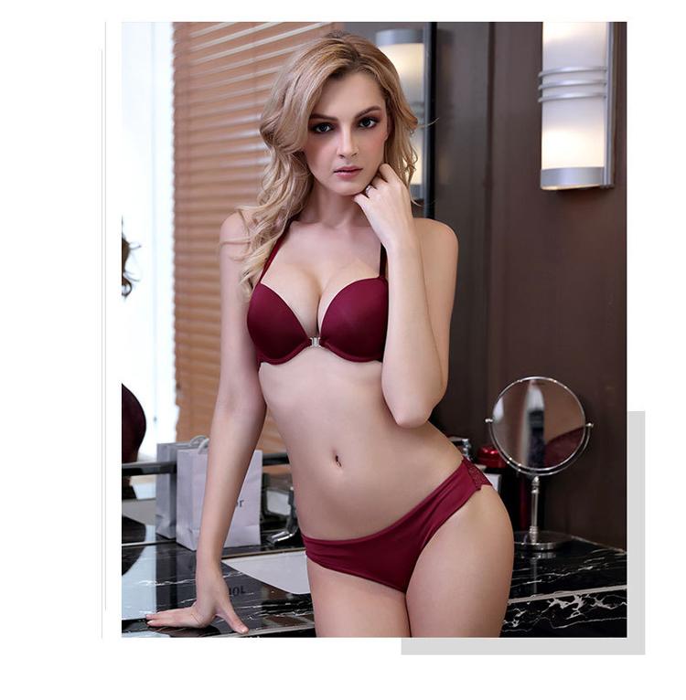 Sexy Lace Push Up Bra Set Underwear Women Set Bra Front Closure Underwear Intimates Bra And Panty Set For Women 15