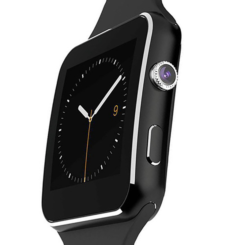 Casual New Arrival X6 Smart Watch with Camera Touch Screen Support SIM Card Bluetooth Smartwatch for iPhone Xiaomi Android Phone