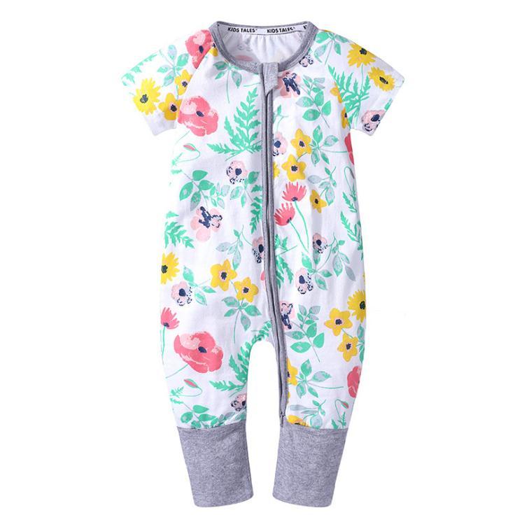 Verão recém-nascido menino Romper manga curta macacão baleia dos desenhos animados impresso macacões bebê meninas macacão roupas