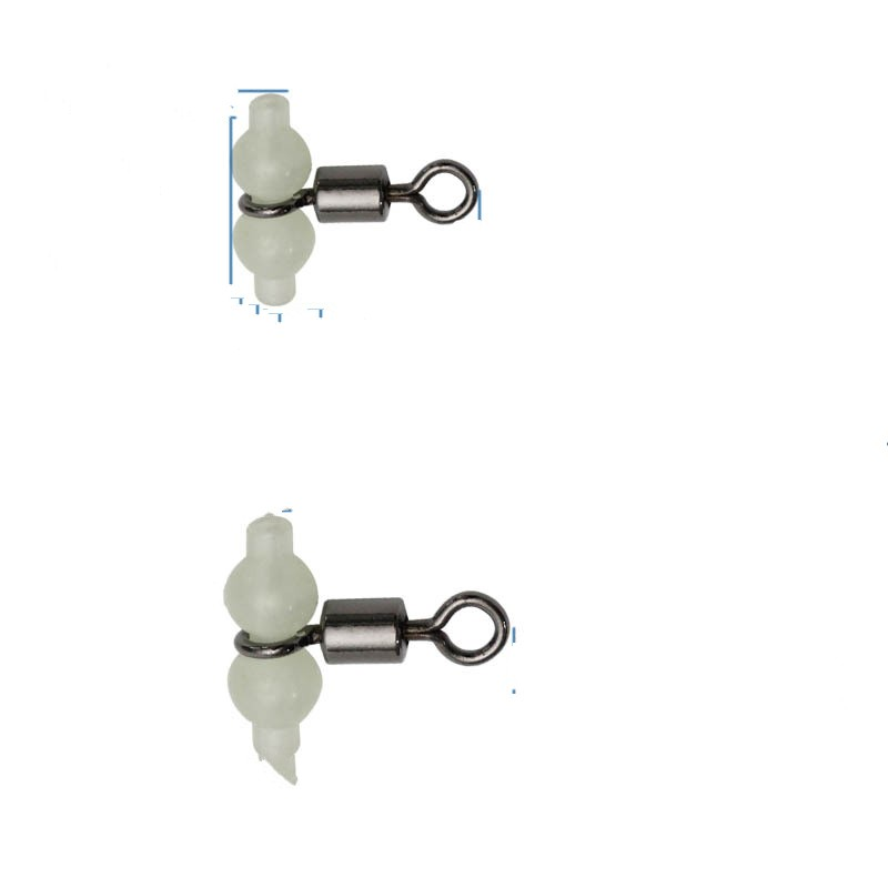 50pcs Connecteur de Pêche Pivots Rig Clip Solide Émerillon Pratique Inox