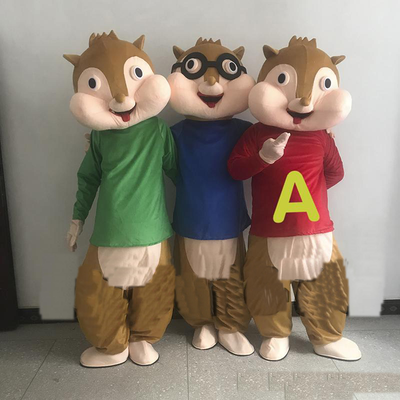 2018 Discount factory sale Sale Alvin and the Chipmunk Characters Cartoon Mascot Costume Anime Christmas