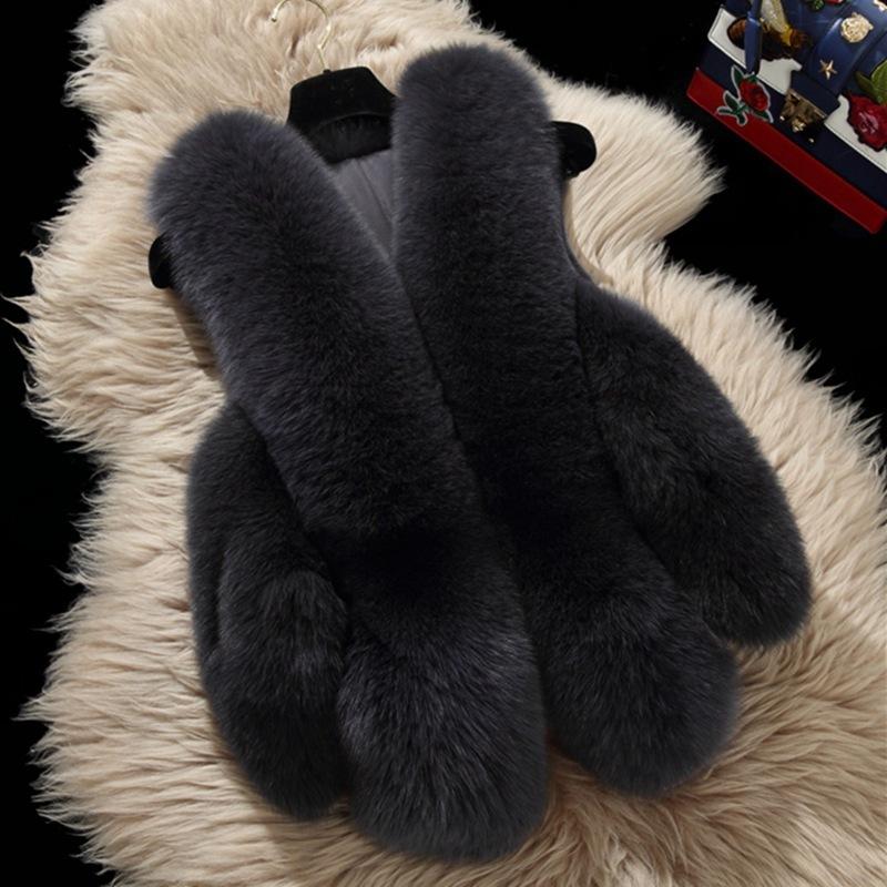 CYAN Sleeveless Faux Fur Vest Winter Solid Short Jacket Women Shaggy Waistcoat Warm Fur Hairy Outwear Plus Size Casaco FemininoX82302