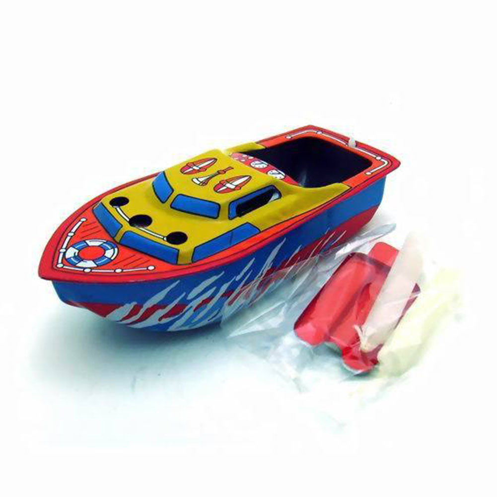 Hot Sale Candle Boat Classic European Water Wind Up Iron Toys Multi-colored Collectible Creative Gift For Kids Children
