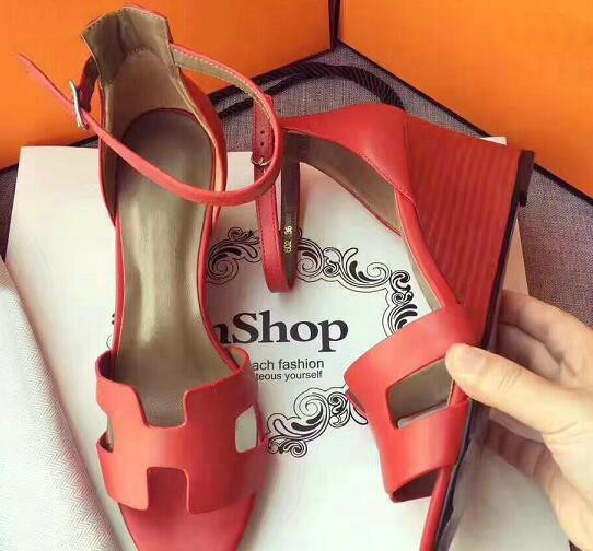 Women 100% Real leather Summer High Heel Spring Summer Sandals Fashion Women Shoes Ankle Straps Fish Mouth Thin Heel Platform