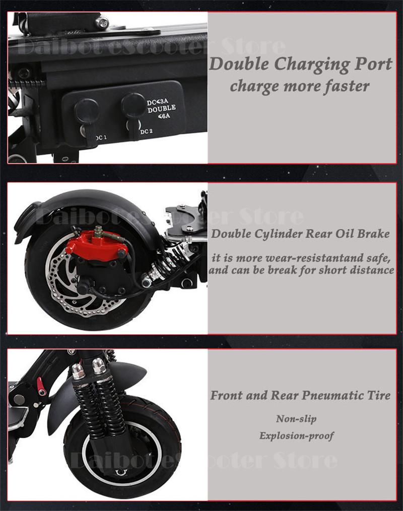 UBGO 1005 60V52V 2000W Double Drive Folding Electric Scooter (14)
