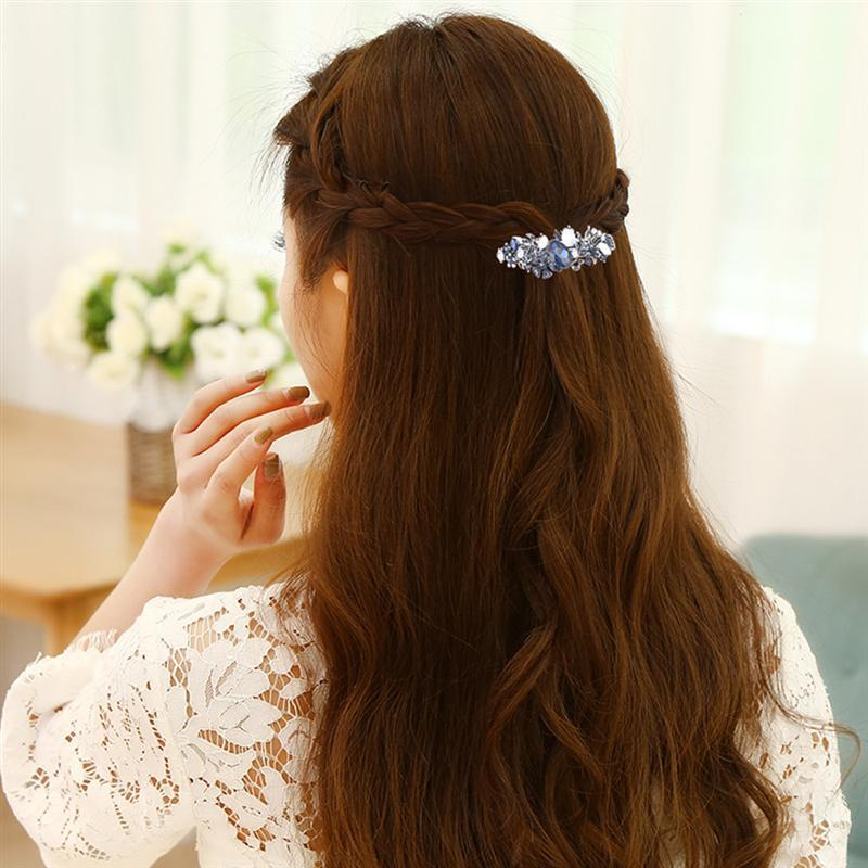 Retro Clip Bowknot Crystal Leaf Accessories Pin Spring Hair Clamp for Women Ladies Girls C18110901