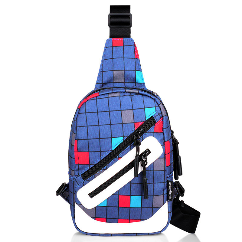 Mens Fashion Taille Taschen Diagonal Bag Cross Body Outdoor Sport Oxford Brusttasche Fanny Packs Schultertasche Studenten Messenger Bag
