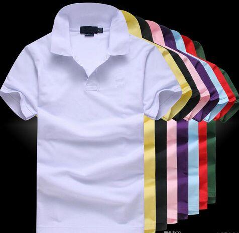 Hot Sale 2019 New Polo Shirt Men Big small Horse crocodile Embroidery LOGO Big Size Short Sleeve Summer Casual Polo Shirts Mens