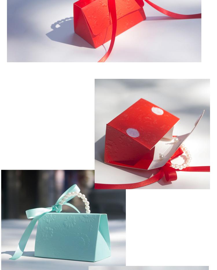 10 teile / los Tragbare Party Hochzeit Gunsten Süßigkeitskästen Baby Shower Geschenk Tasche DIY kreative pralinenschachtel Romantische mariage