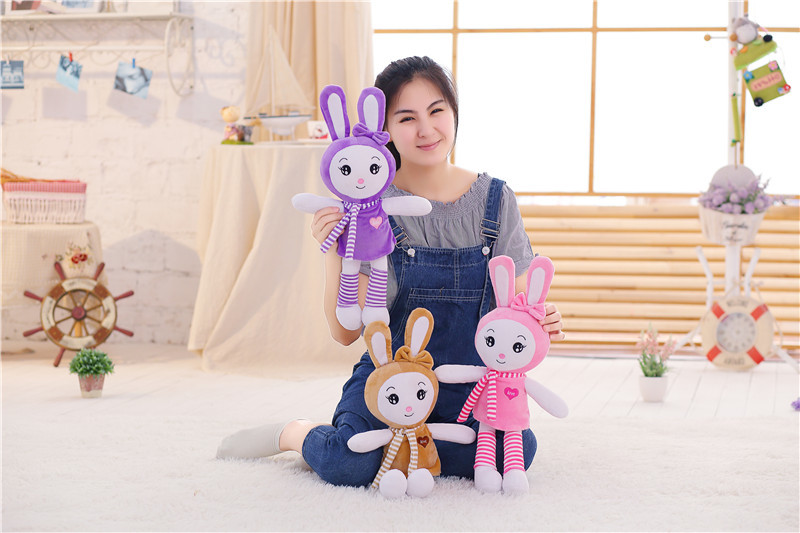 100cm Pretty Rabbit With Scarf Plush Toys Stuff Animal Doll Christmas Birthday Gift Dolls For Girlfriend Kids Children