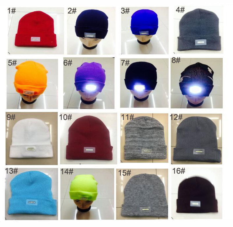 89f39f42215 2019 Knit Adult LED Beanies Light Up Women Men Skull Caps Winter ...