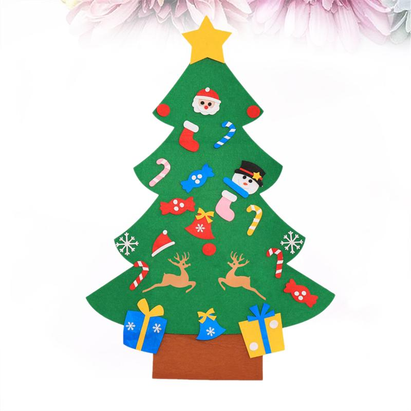 of DIY Christmas Tree Magic Creative Felt Funny Puzzle Jigsaw Toy Decoration for Christmas Party Playing Festival