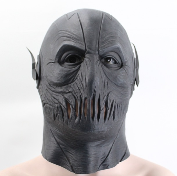 Vinyl Glue Blackhead Full Face Cosplay The Flash Mask Black Hollaween Party Scary Mask For Men Holiday Realistic Masquerade Masks Halloween