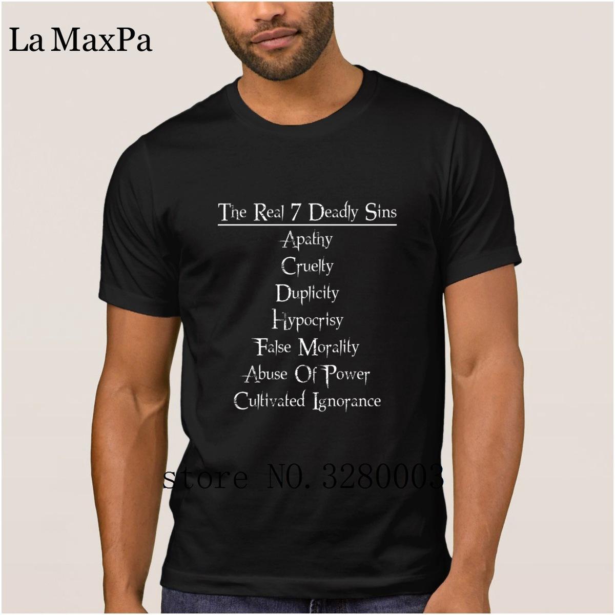 La Maxpa Print camiseta nueva para hombres 7 deadly sins men camiseta Sunlight Leisure camiseta para hombres tallas grandes Top Quality