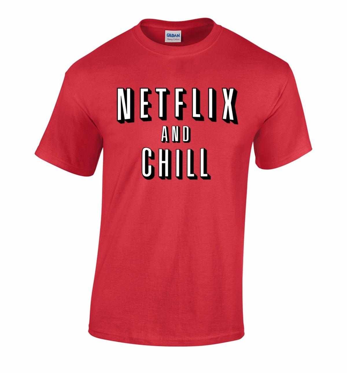 2017 Vente Chaude Nouveau Hommes T Shirt Netflix Et Chill Film T-shirt Drôle T-Shirt Halloween Costume T-shirt Nouveau