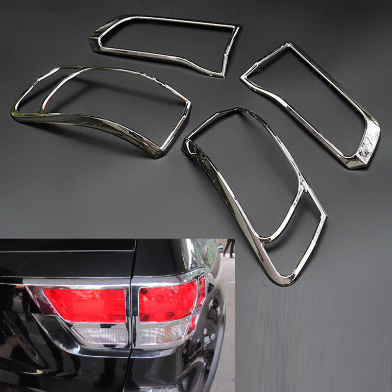 4Pcs Black Iron Tail light Lamp Cover Trim Frame for Jeep Renegade 2015-2017 New