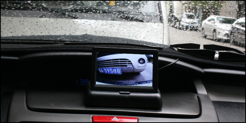 Combination Set Car Front & Rear Camera Cigarette Power Variable Channel Blind Spots Flexible Copilot Monitor Camera View System Front Look