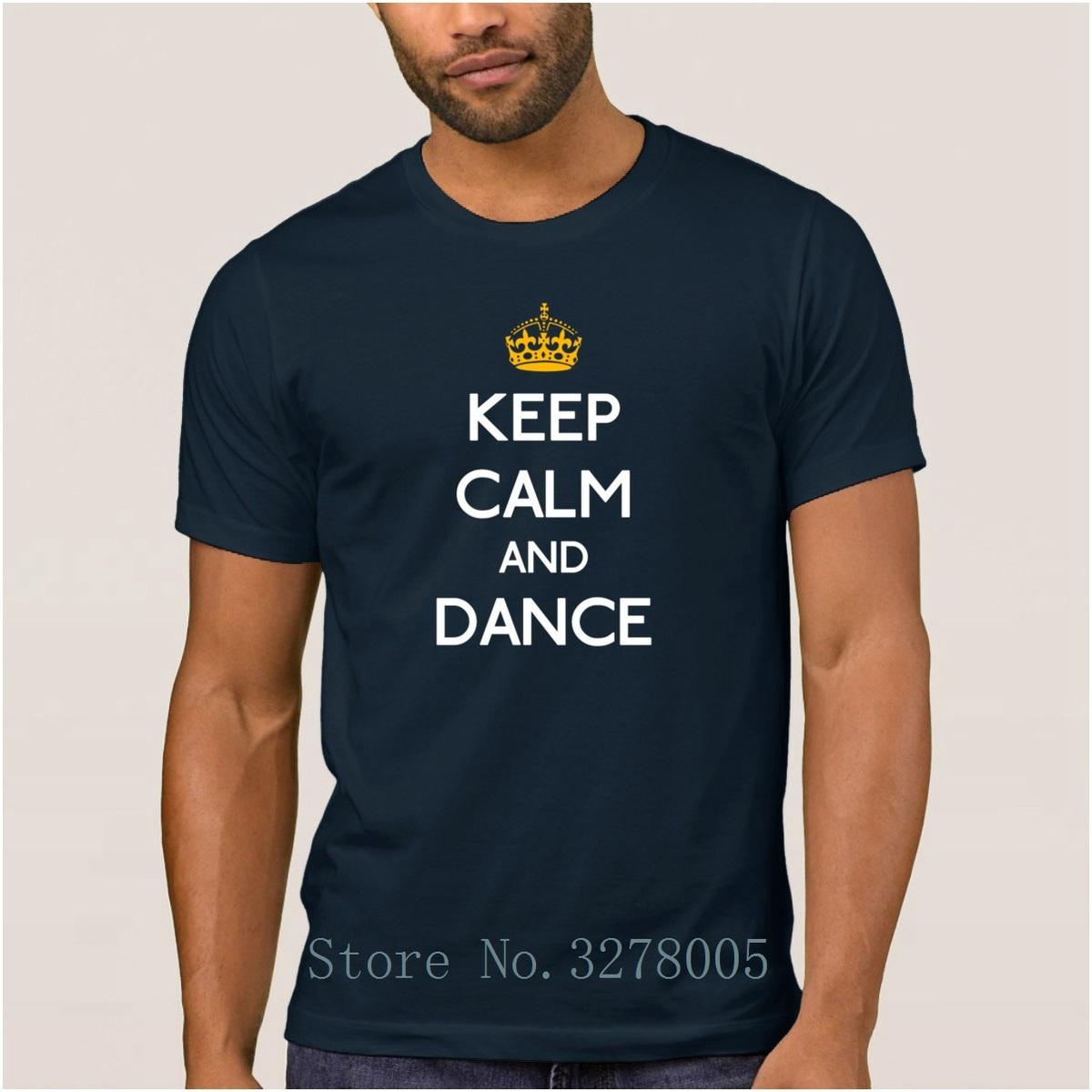 Marke La Maxpa Mode T-shirt Männer Halten Sie Ruhe Und Tanz Regelmäßige T-Shirt Für Männer Frühling Herbst Rundhals Kleidung Regelmäßige T-shirt