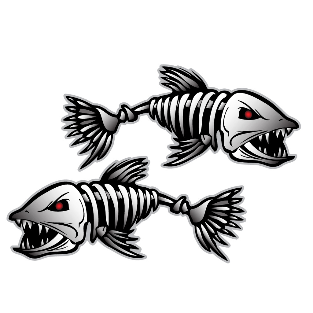 Fishing Decals wholesale lot of fishing stickers 36