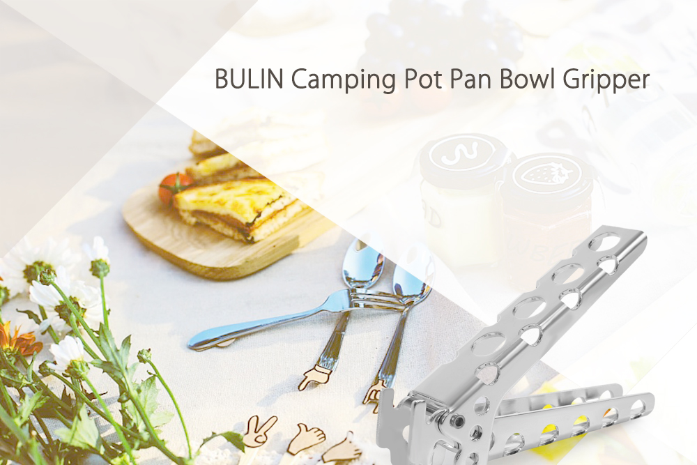 BULIN BL20C Anti-hot Aluminum Alloy Handle Clip Camping Pot Pan Bowl Gripper