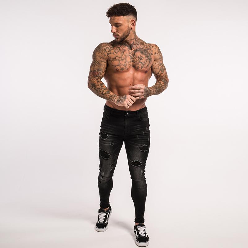 gingtto-mens-skinny-jeans-black-stripe-super-spray-on-zm23-6