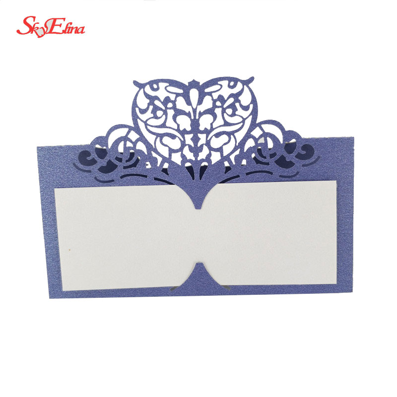 Laser Cut Heart-shaped Wedding Party Table Name Cards Wedding Decoration 9x9cm Place Name Card 5ZSH871