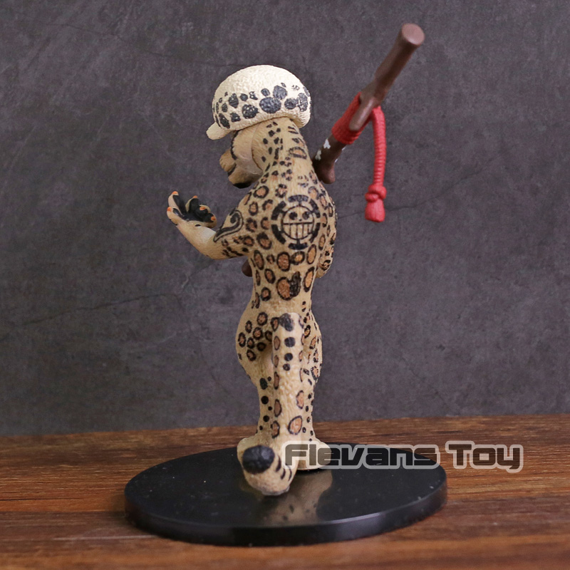 Anime One Piece Trafalgar Law as Snow Leopard PVC Figure Collectible Model Toy
