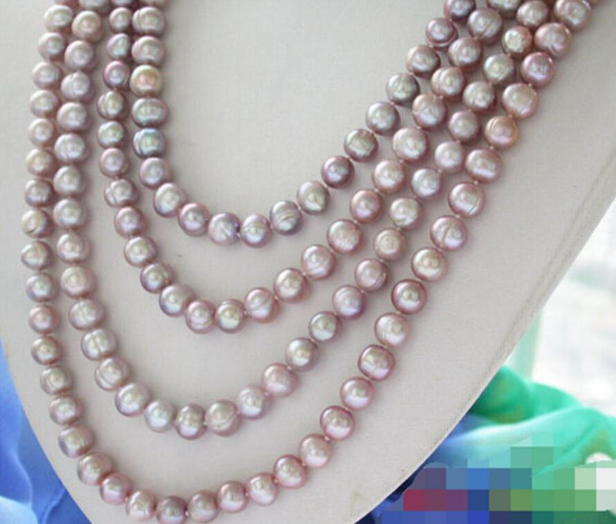 "Long 16/"" 18/"" 25/"" 36/"" Women/'s 8mm Akoya Shell Pearl Round Beads Necklace AAA"