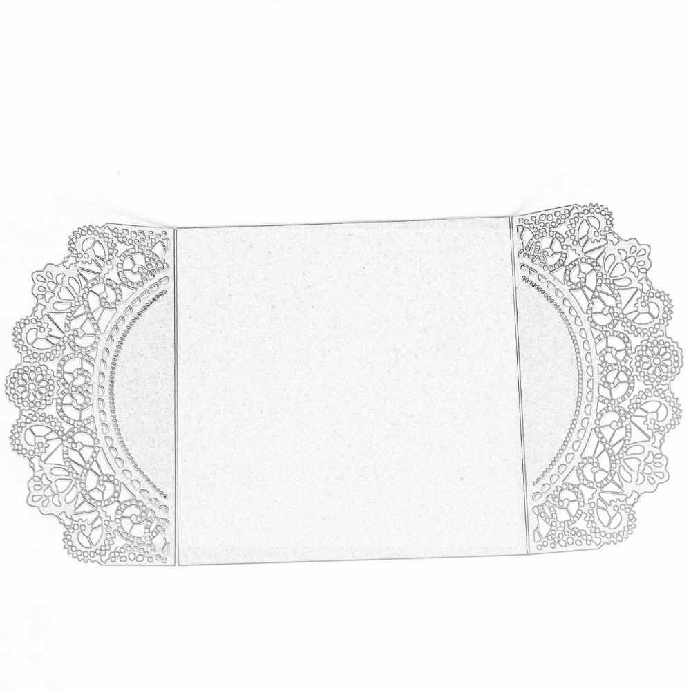 Elegant Invitation Cards Shiny Wedding Invite With Envelopes