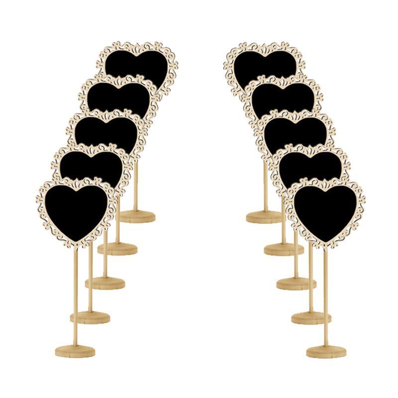 10 pz Legno Mini Lavagne Segni Decorazione di Festa di Nozze Forniture Cartelloni Messaggio Segni di Nozze Carta degli alimenti