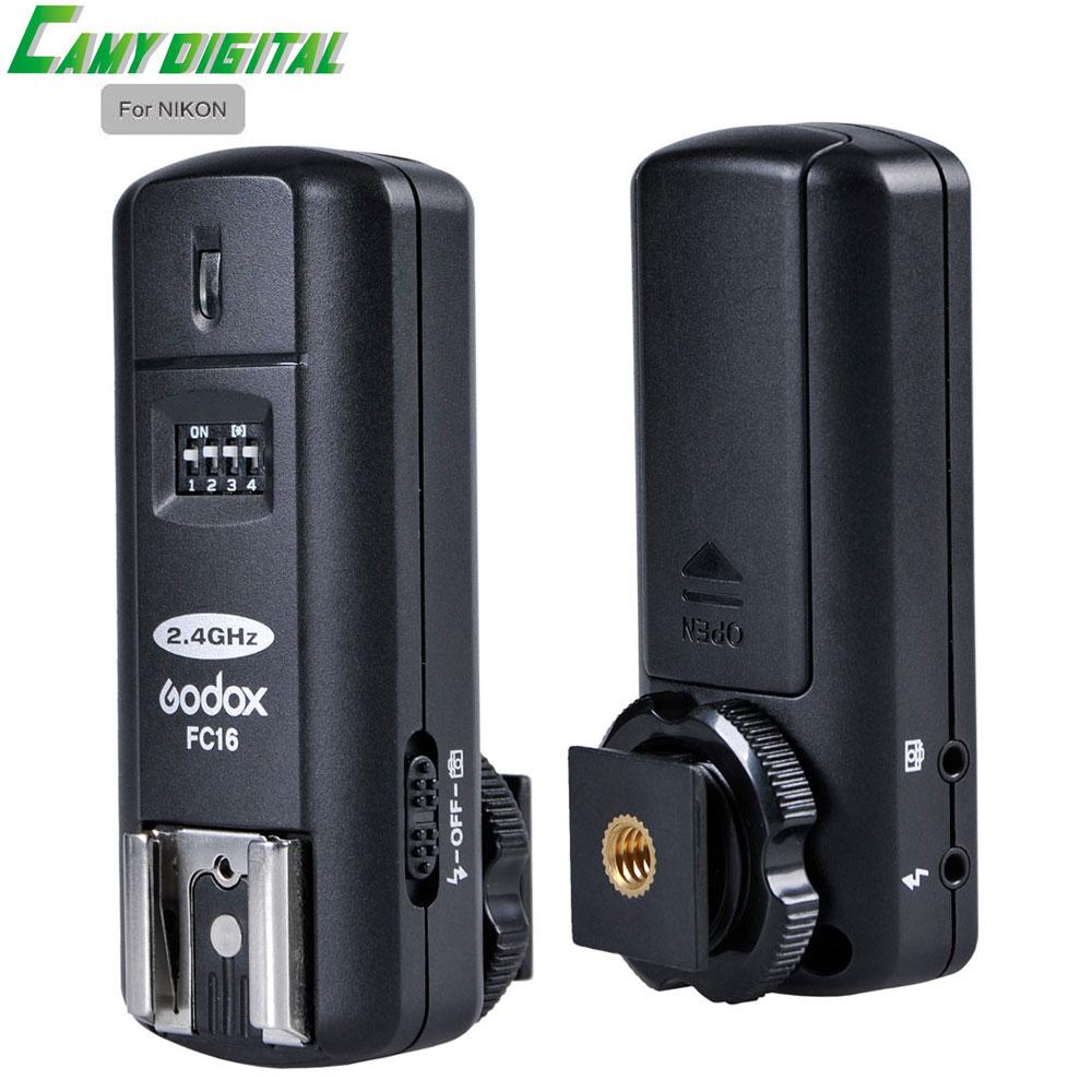 Godox 2.4G Wireless Flash Trigger FC-16 For Nikon Transmitter+Receiver Kit