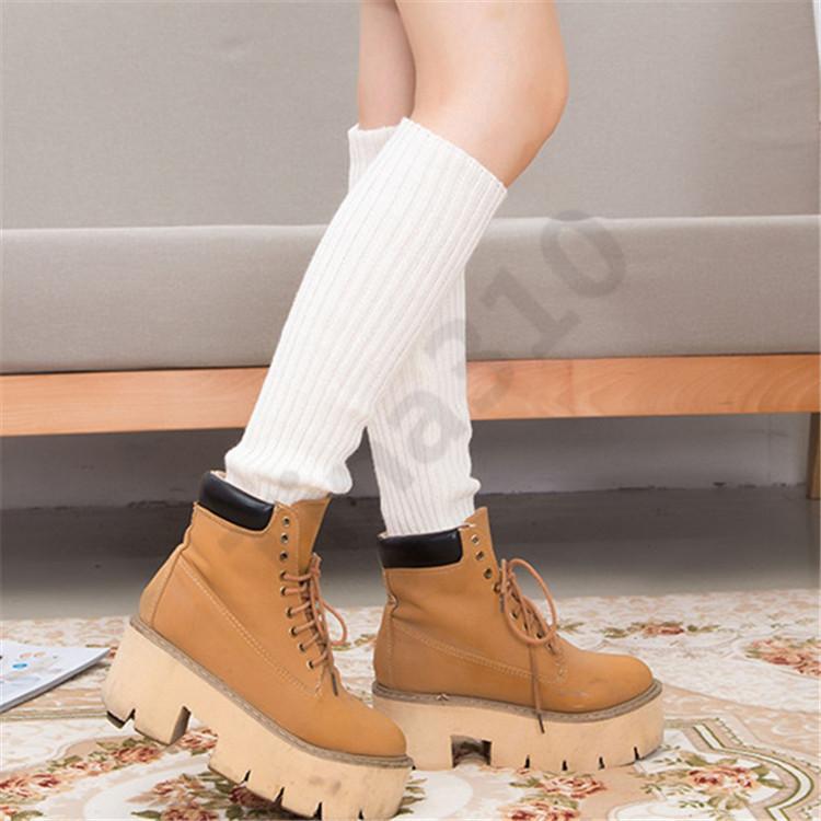 Девушки длинные трубки носки женщины сексуальный хлопок чистый цвет колено высокие носки праздничные праздничные атрибуты Рождество чулок носки 300 пара T1I1004