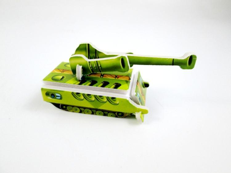 Mini tank Chariot military Model paper 3D puzzles toys for children gift Intelligence toys