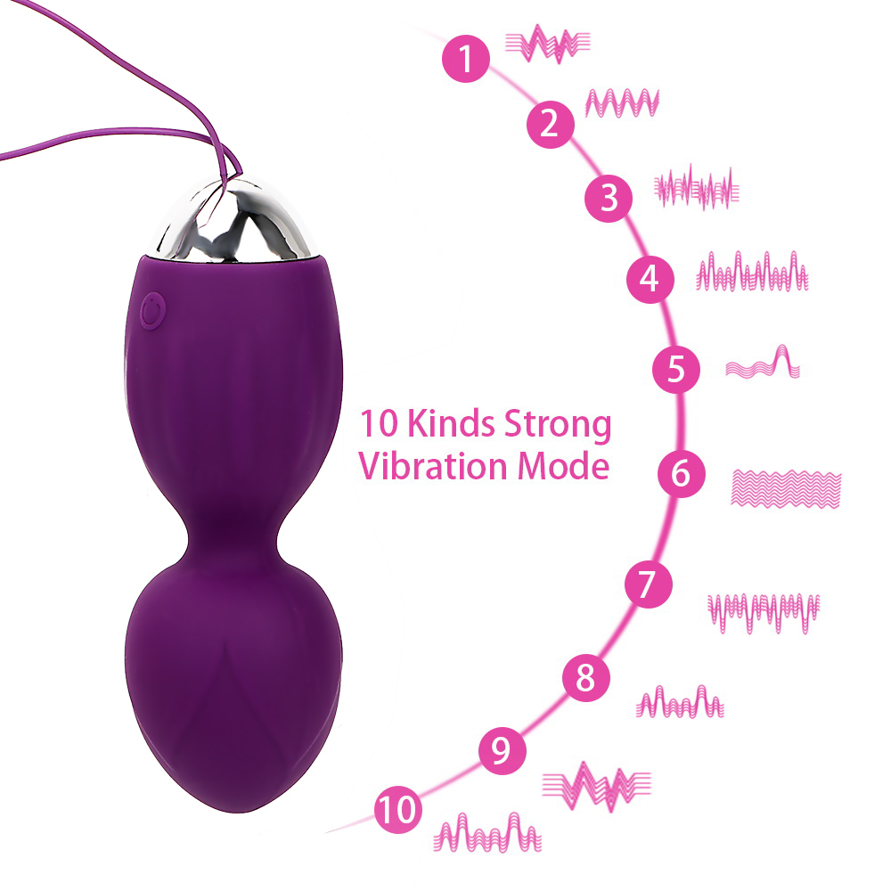 IKOKY Remote Control G Spot Vibrator Vaginal Exercise Trainers Kegel Ball Clitoral Stimulation Sex Toys for Women S1018