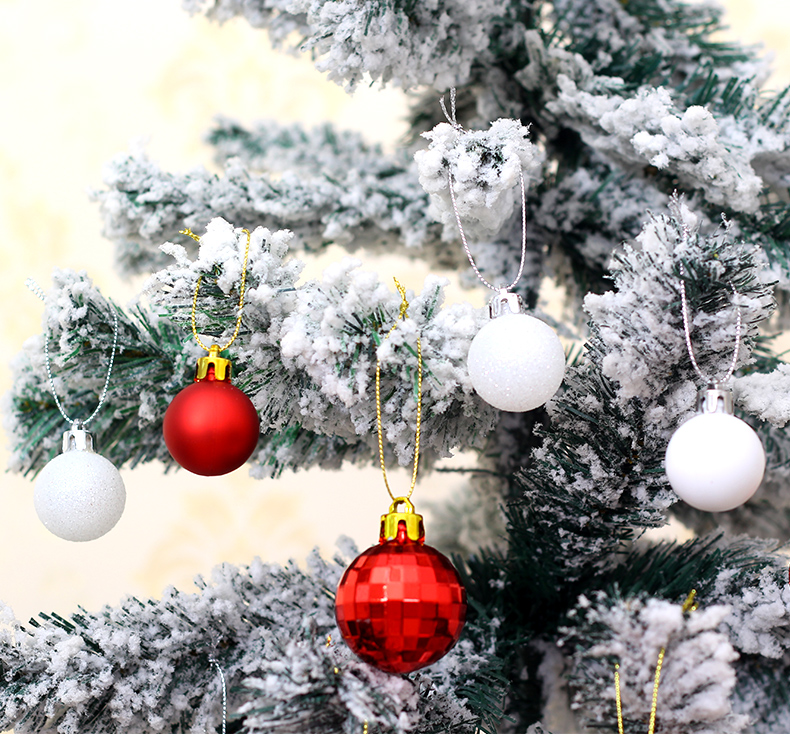 07 inhoo Christmas Tree Decoration Balls Ornaments Pendant Accessories 50pcs Red and white ball Decor For Christmas Home Party 2019