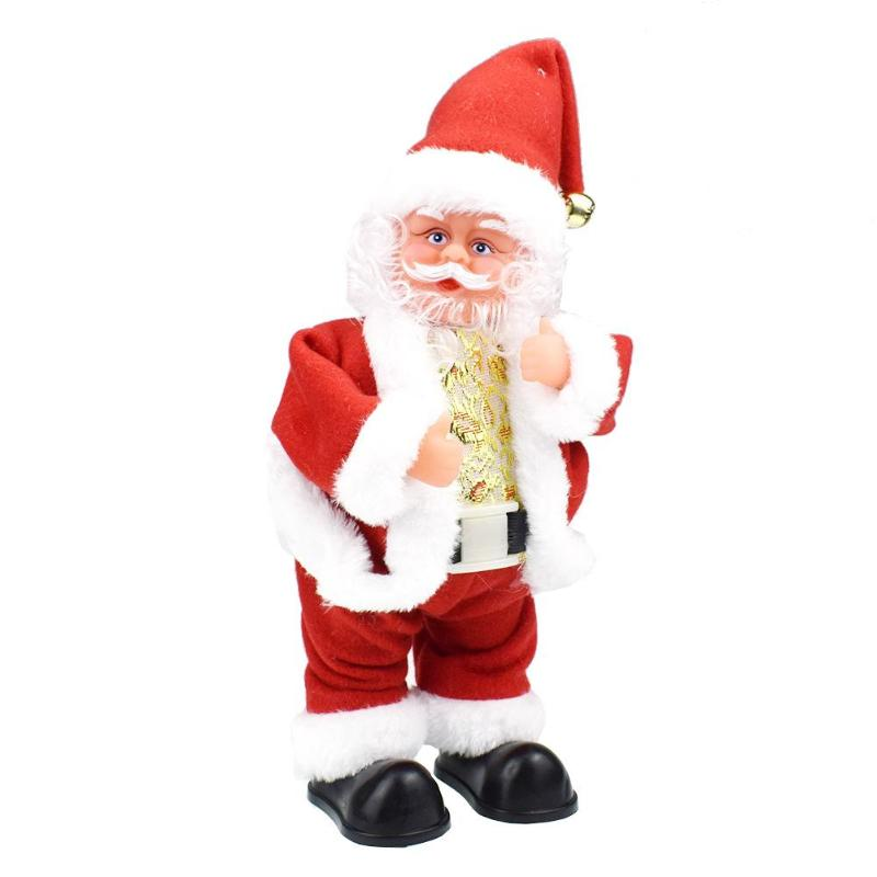 Creative Christmas Decoration Shaking Butt Walk Santa Claus Doll Electric Toy With Music Christmas Gifts Best Gift For Children