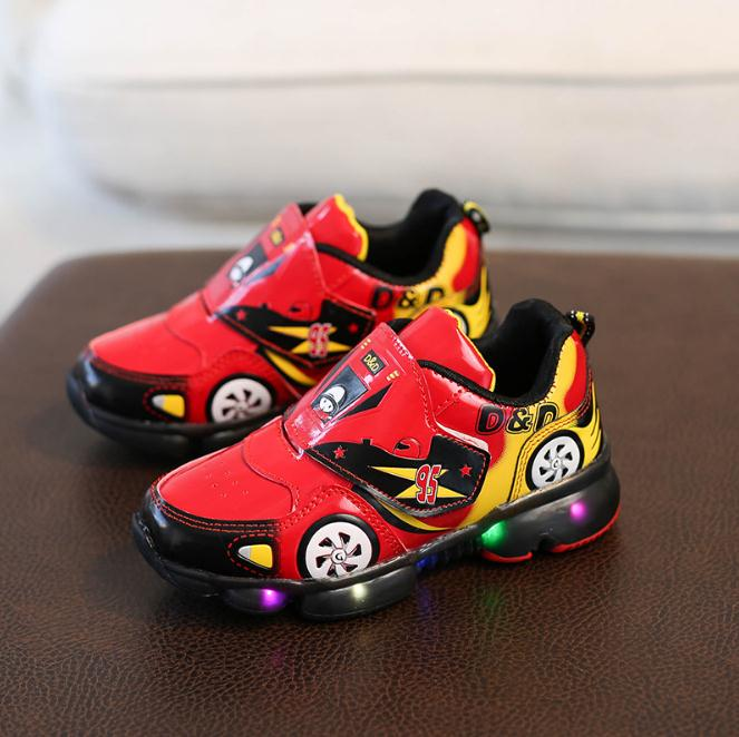Kids Boys Led Sports Shoes With Lights Spring running Shoes Children Toddler Baby Shoes Autumn