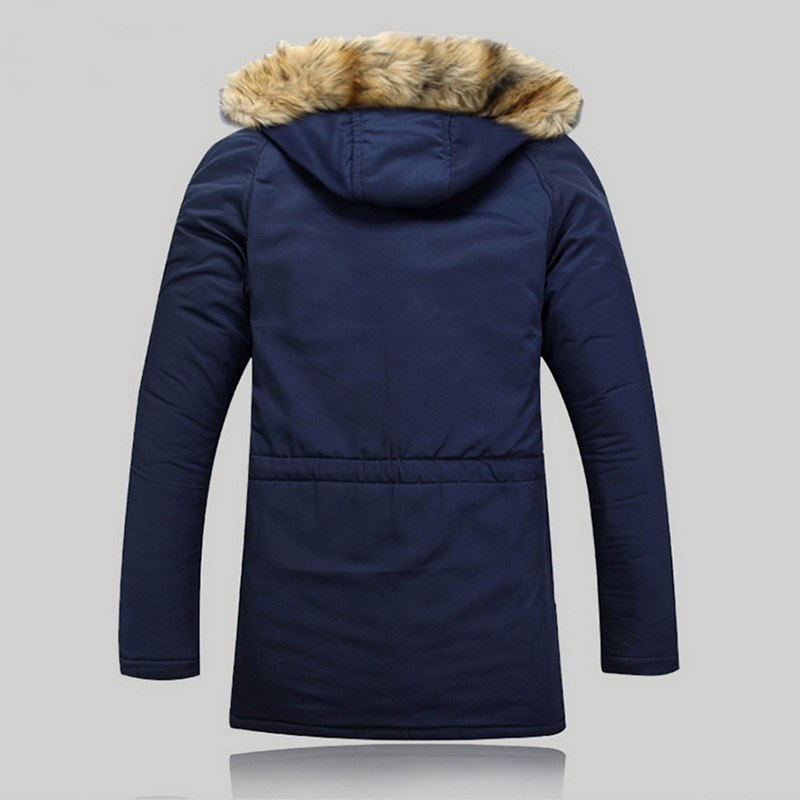 LITTHING 2018 Winter Parka Men Coats Jacket Men Slim Thicken Fur Hooded Outwear Warm Coat Brand Clothing Casual Men's Coat Z40 C18110801